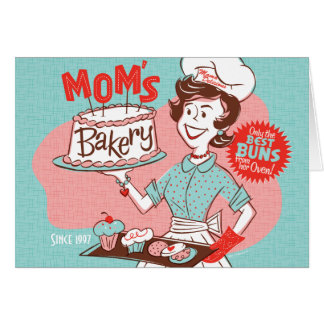 Mum's Bakery Retro Mother's Day Card