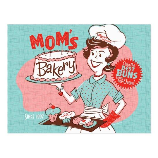 Mum's Bakery Retro Mother's Day Postcard
