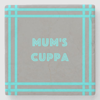 Mum's Cuppa - Blue Lines Stone Coaster