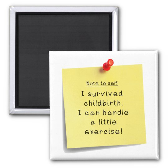Mum's Exercise New Year Resolution Funny Magnet