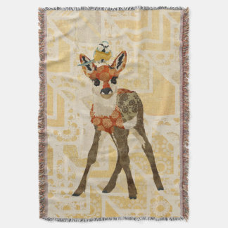 Mums Fawn & Little Bird Throw Blanket