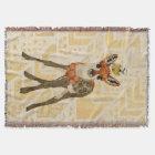 Mums Fawn & Little Bird Throw Blanket