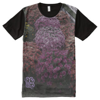 Mums Flower Multi-Color B All-Over Print T-Shirt