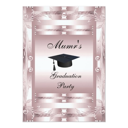 Mum's Graduation Party Formal Invitation