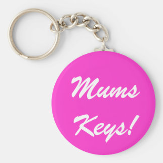 Mums Keys! Basic Round Button Key Ring