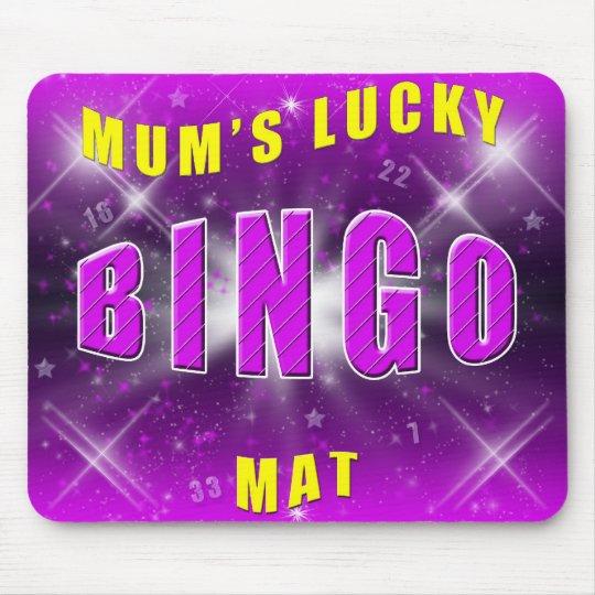 mum's lucky bingo mat mouse mat