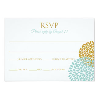 Mums RSVP Postcard | Light Turquoise & Gold