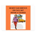 mum's taxi postcard