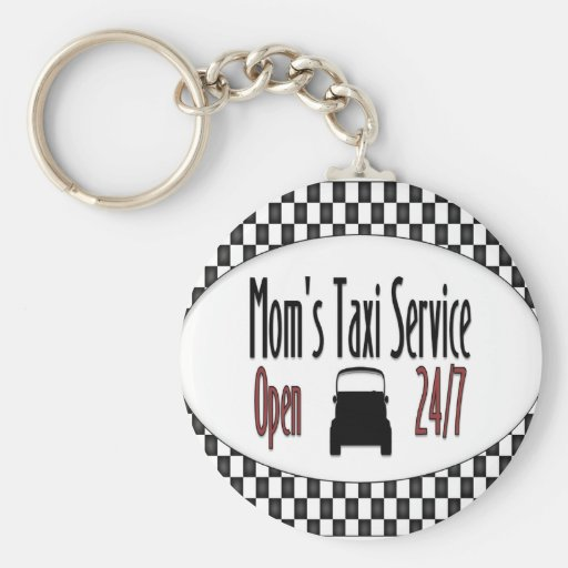 Mum's Taxi Service Basic Round Button Key Ring
