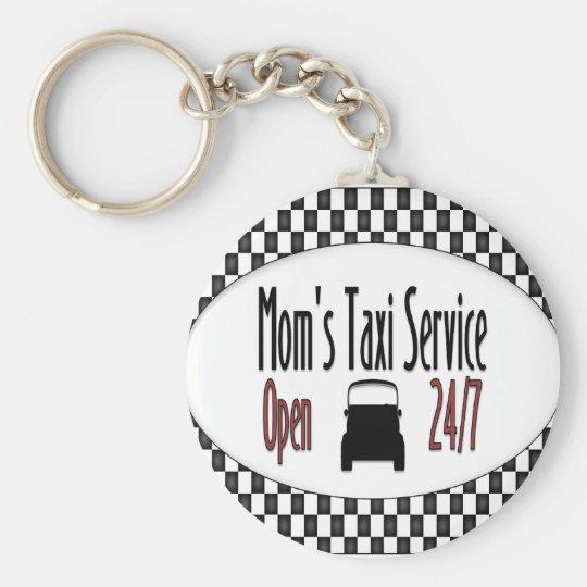 Mum's Taxi Service Key Ring