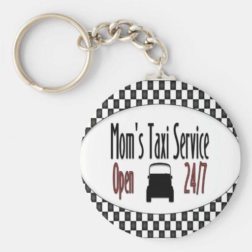 Mum's Taxi Service Keychain