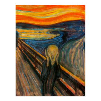 Munch The Scream Postcard