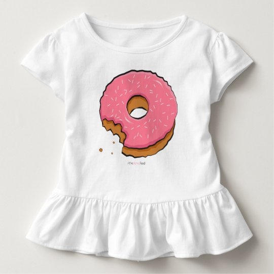 Munched pink donut kids clothes toddler T-Shirt