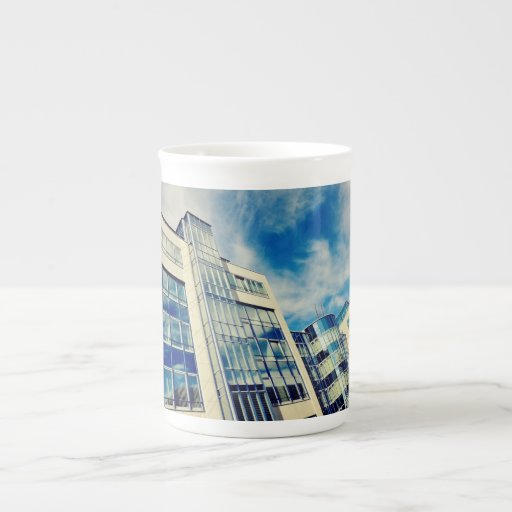 Munchen architecture bone china mug