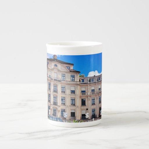 Munchen architecture porcelain mugs