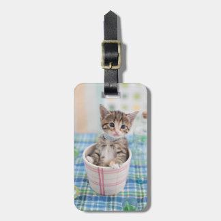 Munchkin Kitten With Pretty Ribbon Luggage Tag