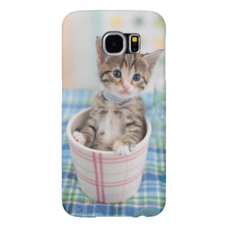 Munchkin Kitten With Pretty Ribbon Samsung Galaxy S6 Cases