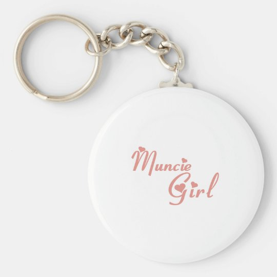 Muncie Girl tee shirts Basic Round Button Key Ring