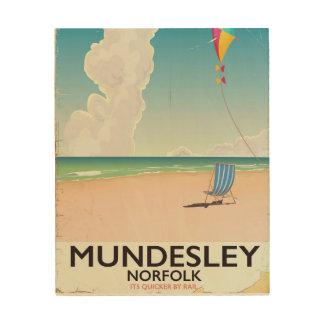 Mundesley Norfolk Beach travel poster