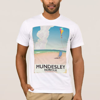 Mundesley Norfolk Beach travel poster T-Shirt