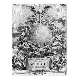 Mundus Subterraneus' by Athanasius Kircher Postcard
