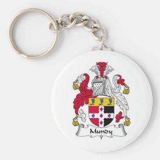 Mundy Family Crest Basic Round Button Key Ring