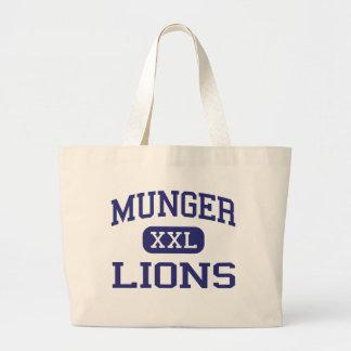 Munger Lions Middle School Detroit Michigan Jumbo Tote Bag