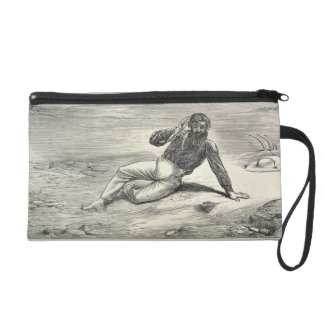 Mungo Park (1771-1806) encouraged by the sight of Wristlet Purse