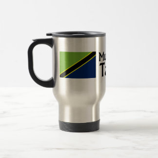Mungu Ibariki (God Bless) Tanzania with flag Travel Mug