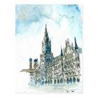 Munich city Hall Marienplatz Postcard