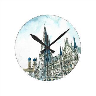 Munich city Hall Marienplatz Wall Clocks