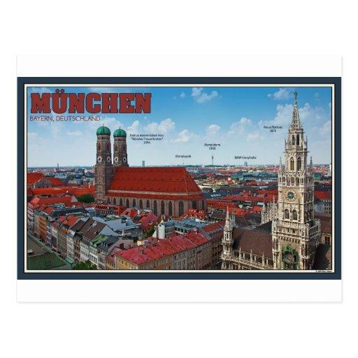 Munich Cityscape Post Card