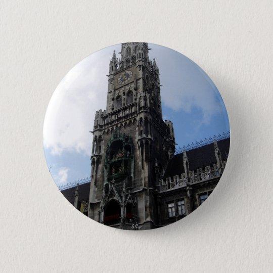 Munich Clock Tower Marienplatz 6 Cm Round Badge