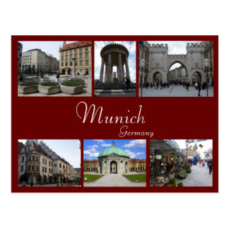 Munich Collage Postcard