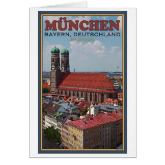 Munich Frauenkirche (Portrait) Card