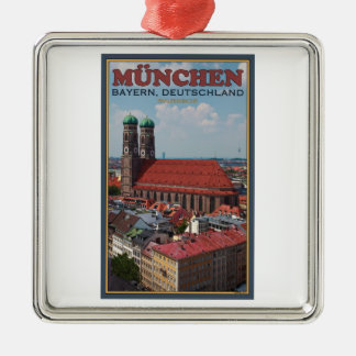 Munich Frauenkirche (Portrait) Christmas Ornament