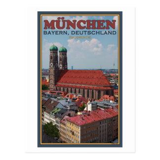 Munich Frauenkirche Portrait Post Card