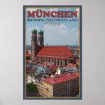 Munich Frauenkirche (Portrait) Poster