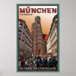 Munich - Frauenkirche Poster