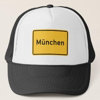 Munich, Germany Road Sign Trucker Hat