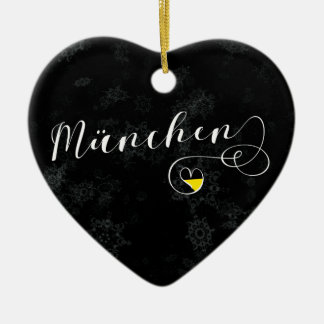 Munich Heart, Christmas Tree Ornament, Germany Christmas Ornament