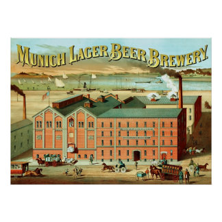 Munich Lager Beer Brewery ~ Vintage Advertising. Poster