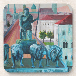 Munich Leopold Str With Bavaria And Alps Beverage Coasters