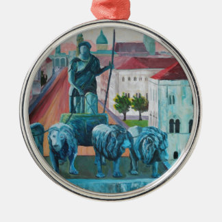 Munich Leopold Str. With Bavaria And Alps Christmas Ornament