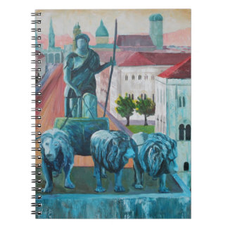 Munich Leopold Str With Bavaria And Alps Note Book
