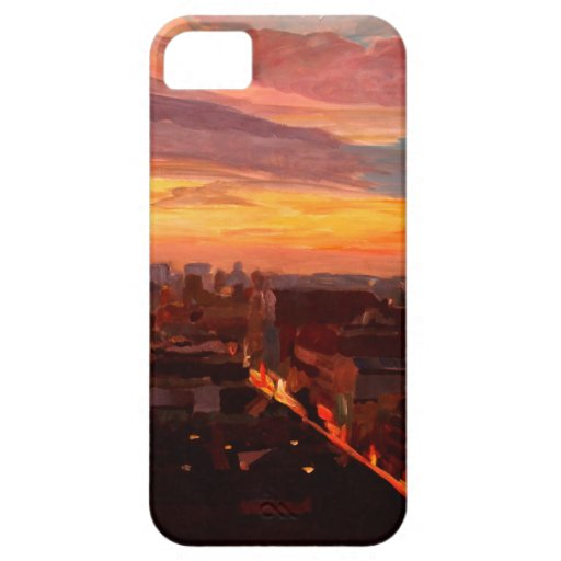 Munich Sunset With Church Of Our Lady iPhone 5 Cases