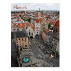 Munich view Altes Rathaus from Marienplatz Postcard