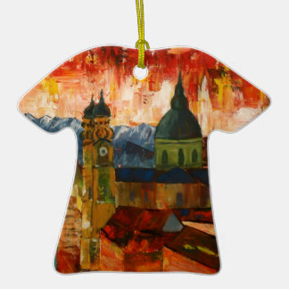 Munich With Alps Panorama Christmas Ornament