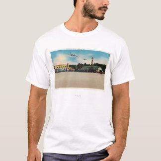 Municipal Airport Landing Field Scene T-Shirt