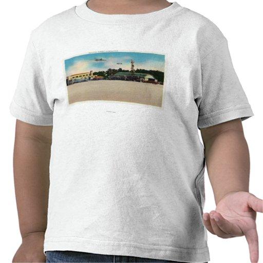 Municipal Airport Landing Field Scene Tshirts